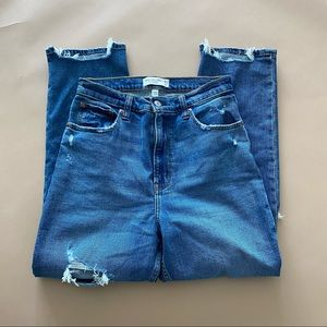 Abercrombie ankle straight high rise jeans 28